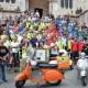 Una lunga carovana di Vespe sfila a Perugia per il X Raduno Nazionale